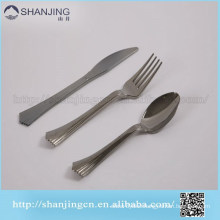 Fishtail handle silver coated plastic cutlery disposable plastic cutlery