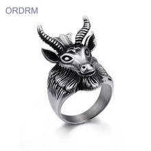 Custom Design Your Own Goat Head Ring Online