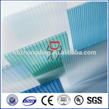 10 years guarantee 100% sabic lexan hollow polycarbonate sheet