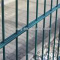 Anping facory экспорт ПВХ покрытием близнецов проволока забор