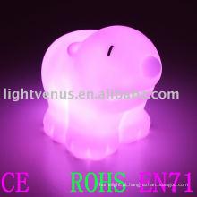 Venda quente bonito pvc soft goma de material de alimentação da bateria levou luz da noite