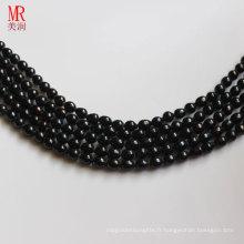 7-8mm Forme de riz noir Forêt de perles d'eau douce