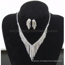 Mode Perlen Vorhänge Glas Edelstein Halskette