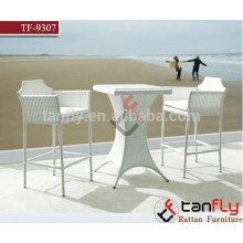 outdoor bar sets TF-9307, high bar table and chair, modern rattan wicker bar table and chairs