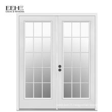 Conception de portes en verre dépoli en aluminium