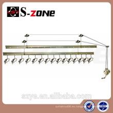 SZ12-04 Divisores del tamaño del estante de la ropa que ruedan resistente de cobre para los estantes de la ropa que giran el estante de ropa