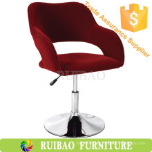 Popular Recliner Crimson Fabric Usado Commercial Bar Stools Venta al por mayor