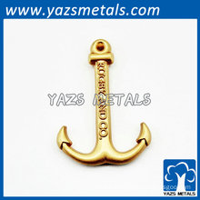 gold plating metal charms Anchor wholesale