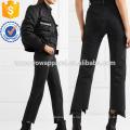 Проблемные высотки прямые джинсы оптом производство модной женской одежды (TA3068P)