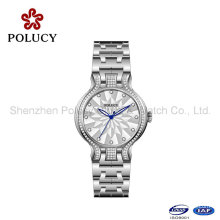 Senhoras de quartzo relógios pulseira de aço atacado relógio pequeno mostrador