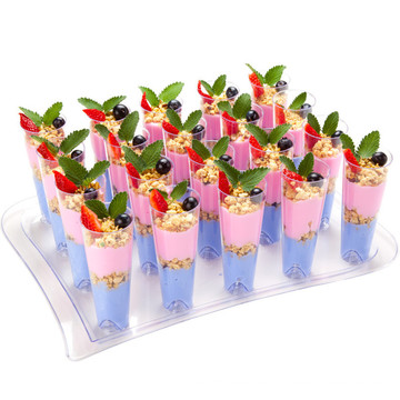Tall Cocktail Glass with Serving Tray Dinner Sets