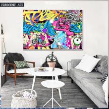 Abstract Wall Art Bedroom Cartoon Oil Painting