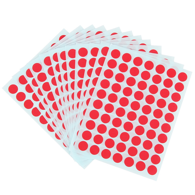 10 Packs X 12 Sheets Green Red Round Sticker Labels Self Adhesive Paper Label Stickers 90x120mm Jpg 640x640