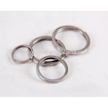 3pcs titanium keychain polishing process personal accessory key rings