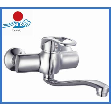 Wall-Mounted Kitchen Mixer Brass Water Faucet (ZR21703)