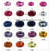 Créé le rubis et le saphir pour bijoux (Cro1102)