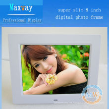4: 3 resolución 800x600 delgado marco de foto de 8 pulgadas LCD