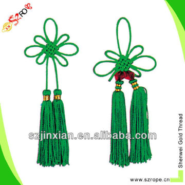 colorful tassel with Chinese knot/Chinese knot tassel/Chinese knot cord tassel