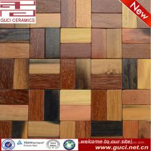 producto de diseño caliente mezclado mosaico de pared de mosaico de dormitorio de diseño de madera sólida