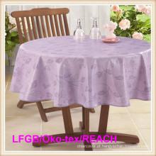 Toalha de mesa impressa quente da venda PEVA para o uso da casa / partido / banquete / hotel