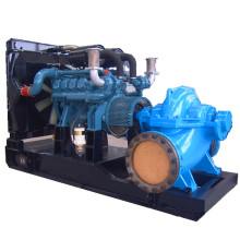Générateur de pompe à eau à double carburant mixte à gaz Diesle à 1260 tr / min