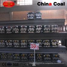 Ferrocarril de acero ferroviario GB38kg con calidad confiable