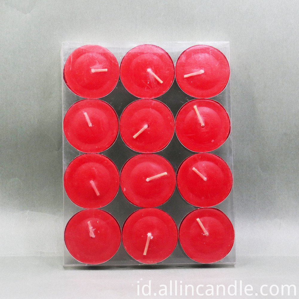 10g Red Color Tealight Candle