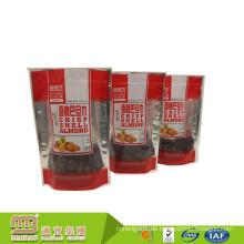 Hohe Qualität Benutzerdefinierte Druck Zip-Lock Wärme Versiegelt Aluminiumfolie Mylar Taschen Für Lebensmittel Lagerung