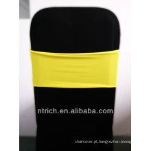 cadeira barata cobre faixas de cadeira, linda banda de elastano, Lycra banda, amarelo