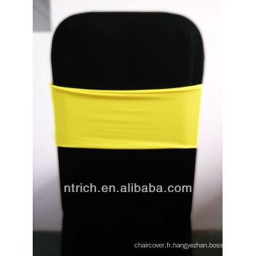 housses de chaises pas cher président jupettes, magnifique bande de Spandex, Lycra Band, jaune