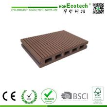 Decking compuesto plástico de madera de 145 * 22m m Hohecotech para el proyecto al aire libre