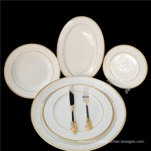 China made luxury ceramic dinnerware sets for 12 person elegant eew bone china chinaware plate and bowl dinnerware set