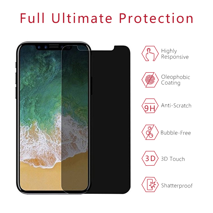 Privacy Iphone X Tempered Glass