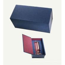 Embalagem de papel high end Caixas de vinho com tampa com dobradiça