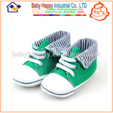 Low price baby shoes green casusal canvas shoes toddler baby fabric shoes