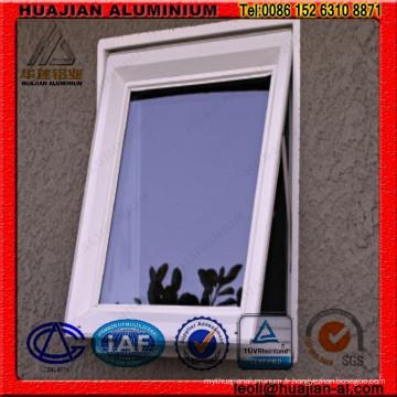 Profils d'aluminium pour les fenêtres d'auvent