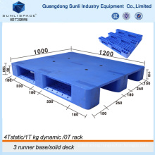 Single Faced Flat Top Euro HDPE Plastic Pallet