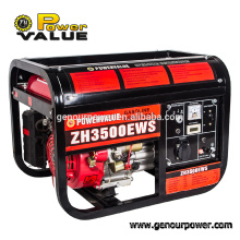 China manufacturer 2.5kw model 3500 gasoline generator