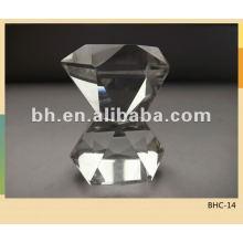 Farbige kristallglasvorhangstange finials