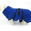 Peignoir en microfibre pour animaux de compagnie super absorbant avec ceinture
