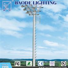 15m высокая стрит мачты освещения полюс с прожектор