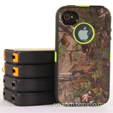 Robot Series Case for iPhone 4S 4 5s 5c 5 S3 S4 Camo Camouflage Realtree Back Belt Clip Stand 3 in 1 No Logo