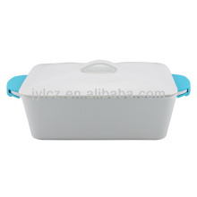 rect casserole with silicone handles 2000CC