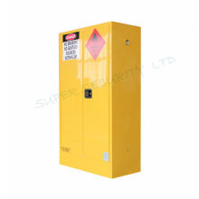 Powder Coat Yellow Flammable Storage Cabinet Double Wall with Two 2'' Vents