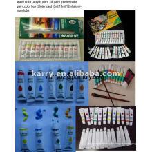 6ml, 12ml Aluminiumrohr Acrylfarbe Set