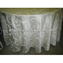 Durable polyester jacquard table cloth for banquet