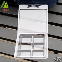 Wholesale 6 Cavity Transparent Plastic Wax Clamshell Tray