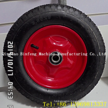 Wheelbarrow / Barrow Pneumatic Rubber Wheel with Metal Rim