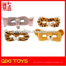 Оптовая дикий плюшевые маски животных дети плюшевые животных маски