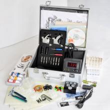 Kit profesional de máquina de tatuaje completo con dos máquinas y productos relacionados